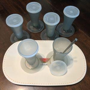 Tupperware Parfait Dessert Sealed Stemmed Cups